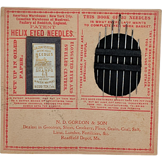 Needle Book, Sewing Notion, Advertising Item