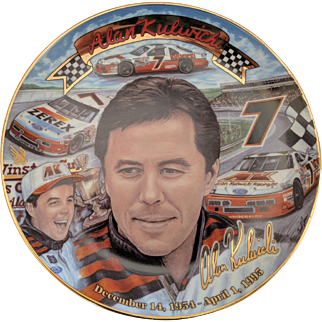 """Racing Collectibles, Alan Kuliwicki collector plate """"Reflections of a Champion"""""""