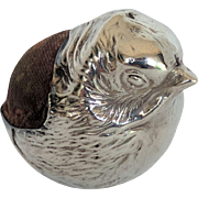 Edwardian Sterling Silver Chick Pin Cushion