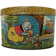 Child's Lithographed Tin Bank