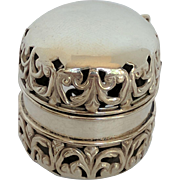 Victorian Repousse Sterling Silver Thimble Holder