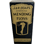 Sewing Thread,  Sewing Notion,  Advertising Sewing,  J.P Coats Mending Floss