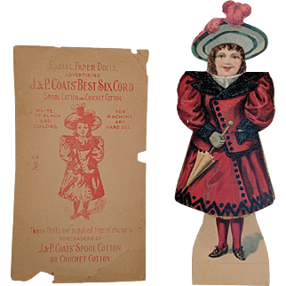 Paper Doll,   Radial Paper Doll,  Vintage Paper Doll