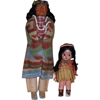 Vintage Bully Indian with Child