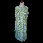 Vintage 1960s Vested Gentress Giraffe Print Shift Dress