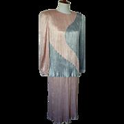 Vintage 1980s Fortuny Pleating Morton Myles Skirt/Top Set