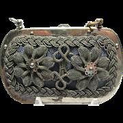 1840-50s  Antique Victorian Coin Purse Silesian Wire Wirework Berlin Iron