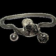 scarce 1940s vintage DANECRAFT Sterling Slide Bracelet pat appl'd for
