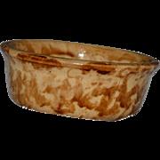 Bennington Brown Sponge Ware Glaze Cereal Bowl