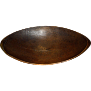 1900's Primitive Dough Bowl made out of Maple Wood.