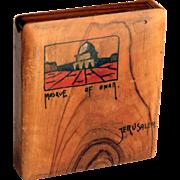 Vintage Olive Wood Cigarette or Card Case