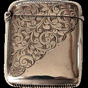 1904 Sterling Silver Vesta Case