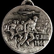 Original Medal of Normandy D-Day Landings in June, 1944 - Utah and Omaha