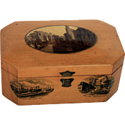 Mauchline Ware Trinket Box from c1900