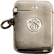 1919 Sterling Silver Vesta Case