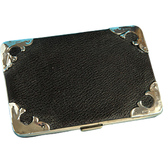 1903 Business Card Case - Leather, Sterling Silver Mounted