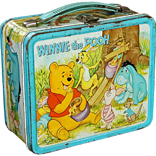 Rare Winnie the Pooh Lunchbox with Original Thermos