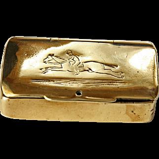 Brass Vesta with Cheroot Cutter c1910