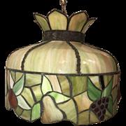 Bent Slag Ceiling Tiffany Style Chandelier Ceiling Light