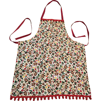 Vintage Hand Made Reversible Christmas Apron