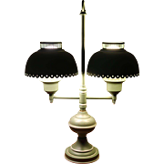 Dual Tole Table Lamp (Without Chimneys)