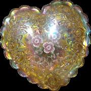 Fenton Heart Shaped Trinket or Jewelry Box