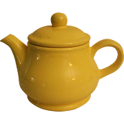 Fitz and Floyd Yellow Teapot