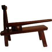 Handcrafted Table Top Asian Wooden Press (All Mortis and Tenon Joints)