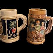 Pair of Ceramic German Steins