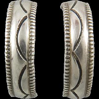 Half Hoop Sterling Silver Earrings