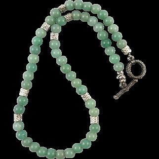 Green Aventurine Charm Necklace