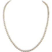 Fine Quality Freshwater Cultured Pearl Necklace 14K Clasp