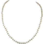 Freshwater Cultured Pearl Necklace 10K Clasp