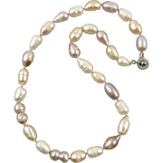 Freshwater Cultured Pink Enhanced Color Pearl Necklace