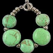 Blue Green Turquoise Magnesite Bracelet
