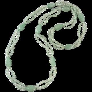 Aventurine Station Style Bead Necklace