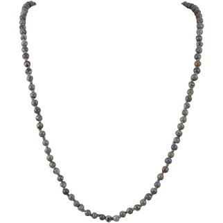 Gray Jasper Bead Necklace