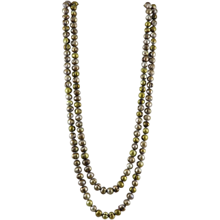 Long Strand Big Bronze Freshwater Cultured Pearls Enhanced Color