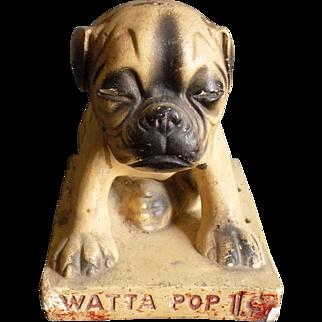 Watta Pop Chalkware Dog, rare