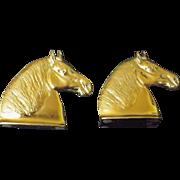Percheron Brass Bookends