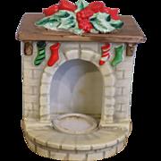 Lefton Christmas Fireplace Tealight
