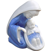 Lefton Mary and Jesus figure in white and blue