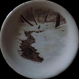 "Harker Pottery W.J. Hefner ""Winter"" Plate"