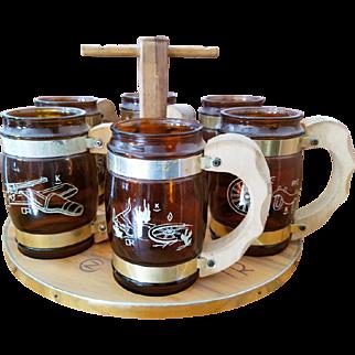 Vintage Siesta Ware Mug Set with Tray