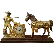 Cowboy Lasso clock with horse