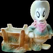 Vintage Walt Disney-Donald Duck Western Planter