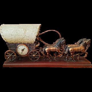 Vintage Western/Cowboy clock and TV Light