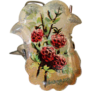 Lithographed Christmas Tree Candle Clip, circa 1920