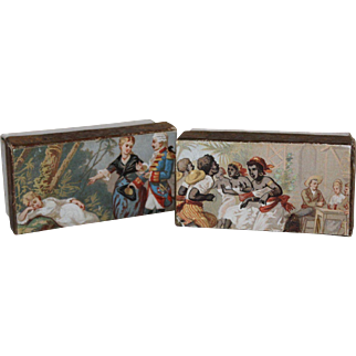 A Fabulous Pair of Small Decorated Boxes
