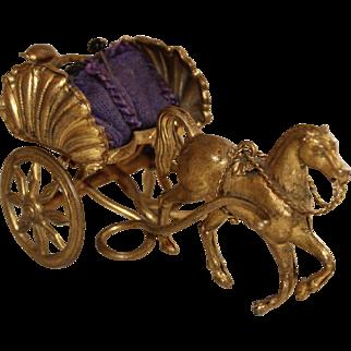 Fabulous Palais Royale Pin Cushion, 19th Century